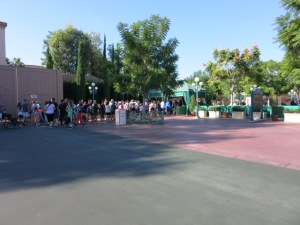 Your first line at Disneyland is the security check.