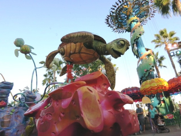Disney floats are tall so everyone can see what's going on.