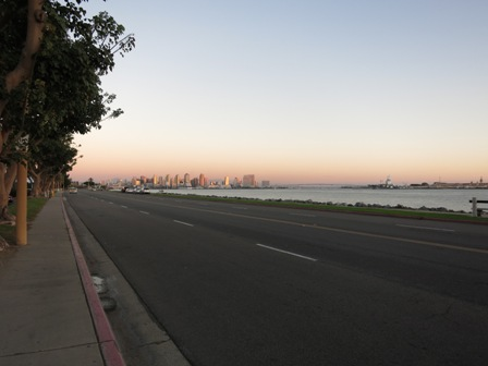 See the tiny high rises in the back? That's downtown San Diego, very far away from the hotel.