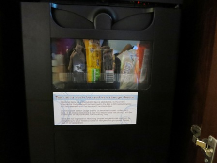 Don't touch the minibar!!