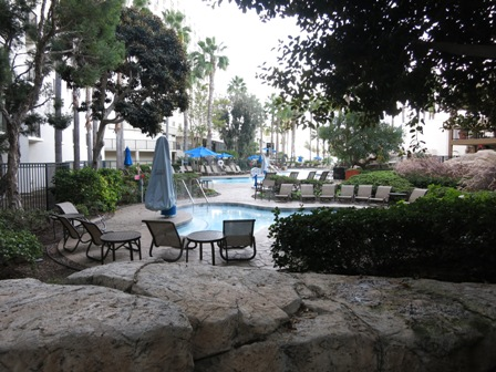 There were two different pool areas. This one had a Jacuzzi.