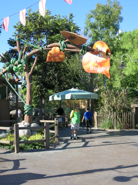 "This is the entrance. You take a long path to get to the ""bug theatre."""