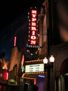 The marquee for the Aladdin show.