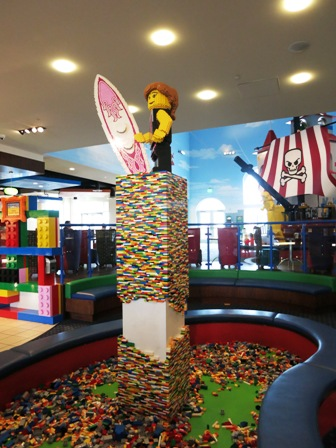 Lego pit in the lobby.